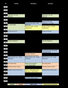 2016-10-10-wsjl-am-schedule
